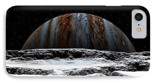 Jupiter Rise At Europa IPhone Case by David Robinson