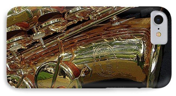 Jupiter Saxophone Phone Case by Michelle Calkins