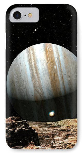Jupiter Seen From Europa IPhone Case by Don Dixon