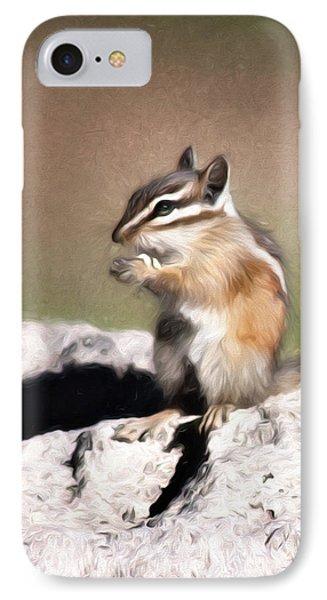 IPhone Case featuring the photograph Just A Little Nibble by Lana Trussell