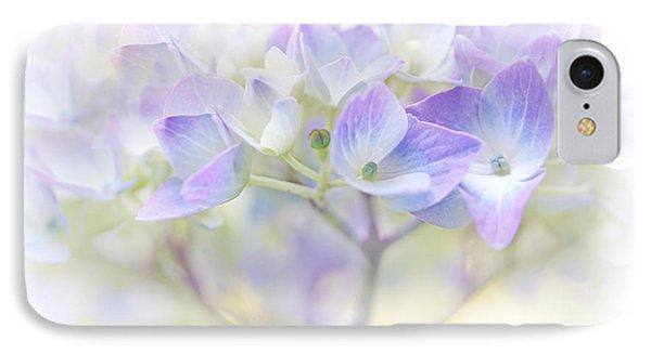 Just A Whisper Hydrangea Flower IPhone Case by Jennie Marie Schell