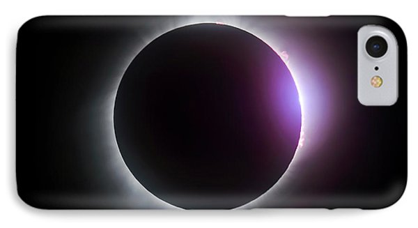 Just After Totality - Solar Eclipse August 21, 2017 IPhone Case