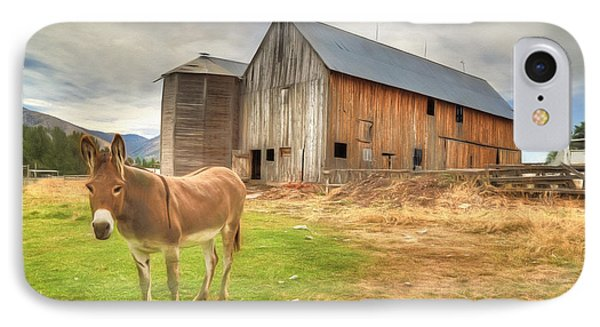 Just Another Day On The Farm IPhone Case by Donna Kennedy