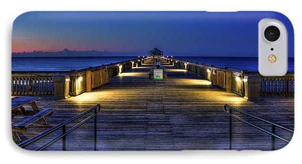 IPhone Case featuring the photograph Just Before Dawn Folly Beach Pier Charleston Sc Sunrise Art by Reid Callaway