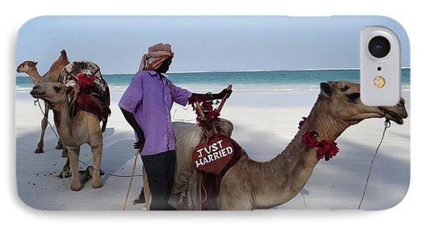 Just Married Camels Kenya Beach 2 IPhone Case by Exploramum Exploramum