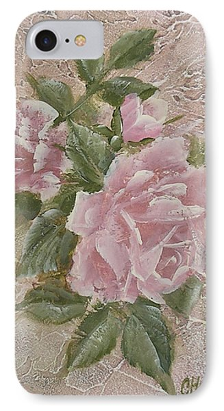 IPhone Case featuring the painting Just Roses by Chris Hobel