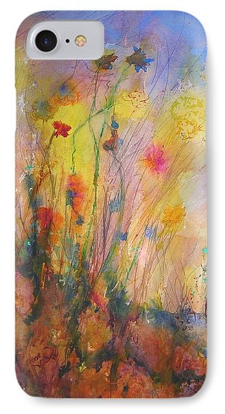 IPhone Case featuring the painting Just Weeds by Mary Schiros
