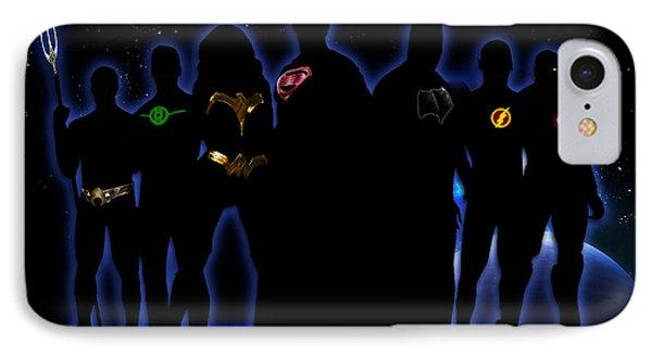 Justice League IPhone Case by PedrazArt Digital Designs