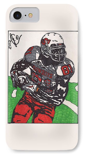 Justin Blackmon 2 IPhone Case by Jeremiah Colley