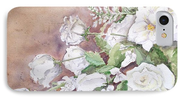 Justin's Flowers IPhone Case by Marilyn Zalatan