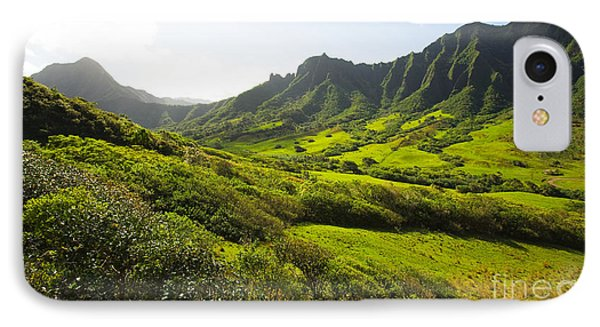 Kaaawa Valley And Kualoa Ranch Phone Case by Dana Edmunds - Printscapes