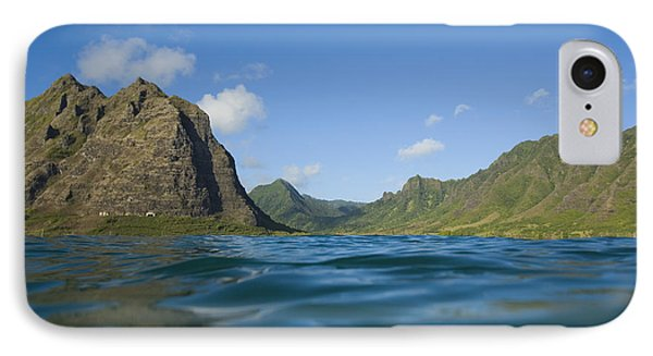 Kaaawa Valley From Ocean Phone Case by Dana Edmunds - Printscapes