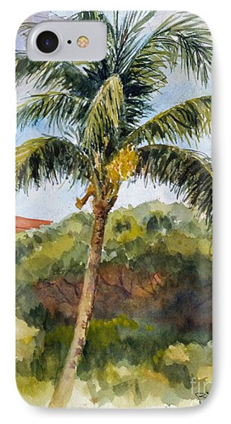 Kaanapali Palm IPhone Case by William Reed
