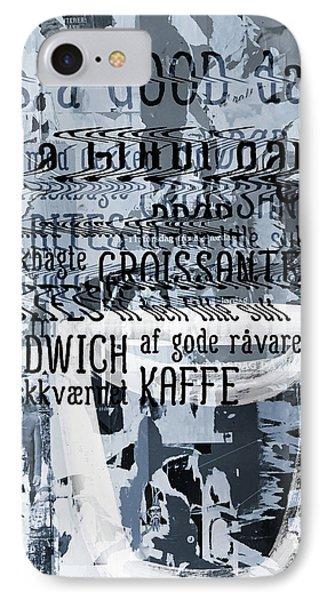 Kaffe 1- Art By Linda Woods IPhone Case by Linda Woods