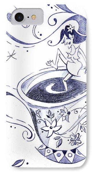 Kaffee - Arte Cafe - Coffee Cup Drawing IPhone Case by Arte Venezia