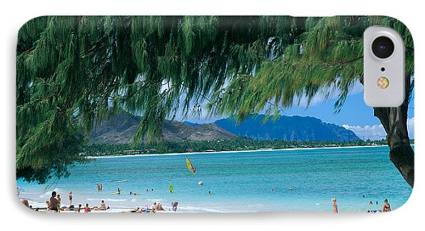 Kailua Beach Park IPhone Case by Peter French - Printscapes