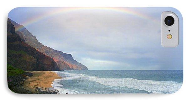 Kalalau Beach Rainbow Phone Case by Kevin Smith