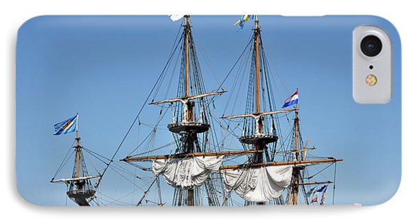 IPhone Case featuring the photograph Kalmar Nyckel - Docked In Lewes Delaware by Brendan Reals