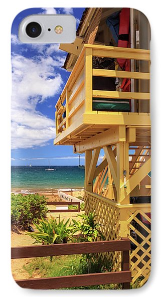 IPhone Case featuring the photograph Kamaole Beach Lifeguard Tower by James Eddy