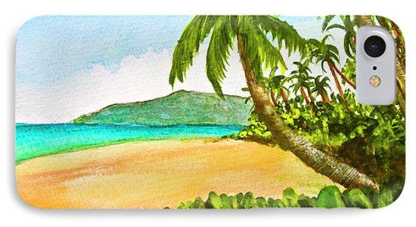 Kamaole Beach Maui Hawaii Art Painting #349 Phone Case by Donald k Hall