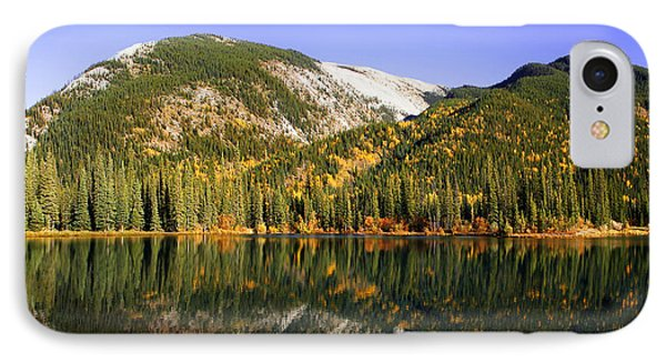 Kananaskis - Autumn Reflections 2 IPhone Case by Stuart Turnbull