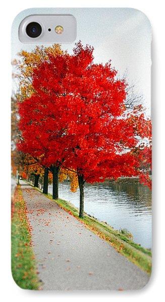 Kanawha Boulevard In Autumn IPhone Case by Shane Holsclaw