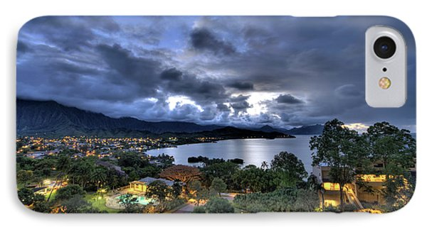 Kaneohe Bay Night Hdr IPhone Case by Dan McManus