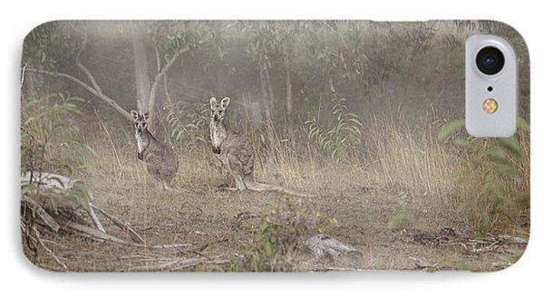 Kangaroos In The Mist IPhone Case
