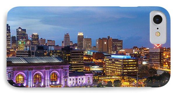 Kansas City Night Sky IPhone Case by Steven Bateson