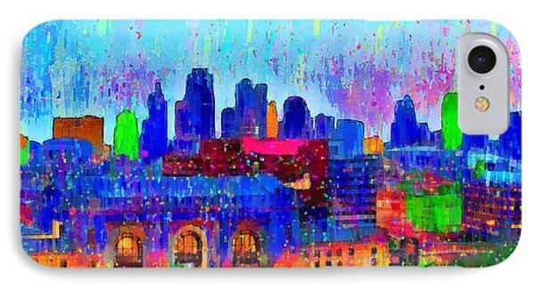 Kansas City Skyline 200 - Da IPhone Case by Leonardo Digenio