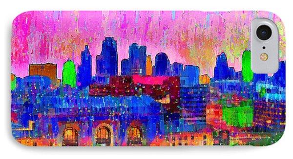 Kansas City Skyline 205 - Pa IPhone Case by Leonardo Digenio