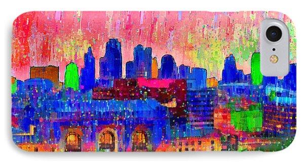 Kansas City Skyline 206 - Da IPhone Case by Leonardo Digenio