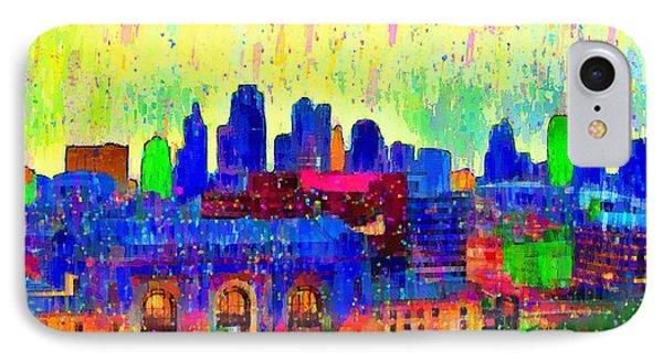 Kansas City Skyline 208 - Da IPhone Case