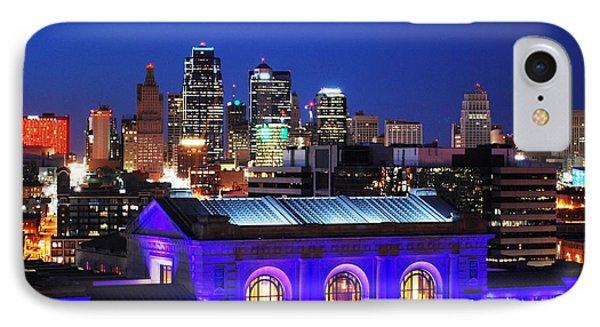 Kansas City Skyline At Night IPhone Case by Matt Harang