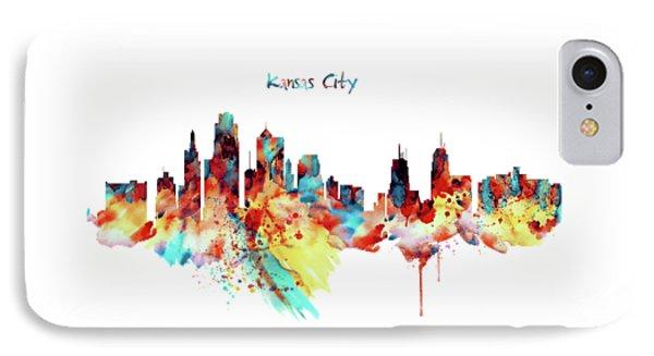 Kansas City Skyline Silhouette IPhone Case