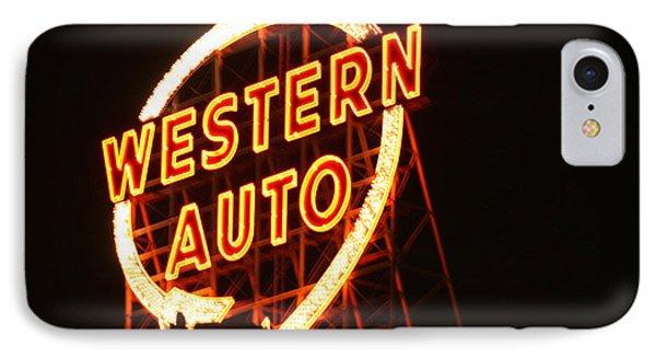 Kansas City Western Auto IPhone Case