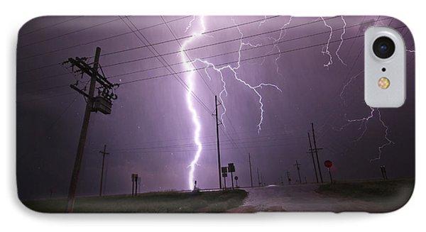Kansas Lightning IPhone Case by Ryan Crouse