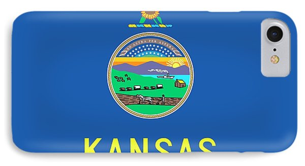 Kansas State Flag IPhone Case by American School