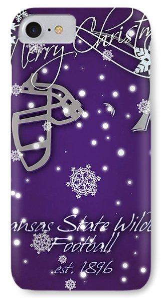 Kansas State Wildcats Christmas Card IPhone Case by Joe Hamilton