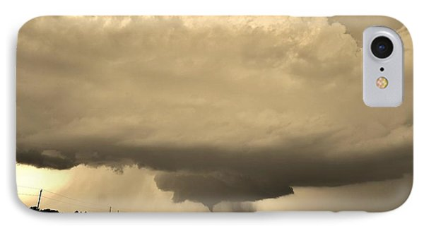 IPhone Case featuring the photograph Kansas Twister - Sepia by Ed Sweeney