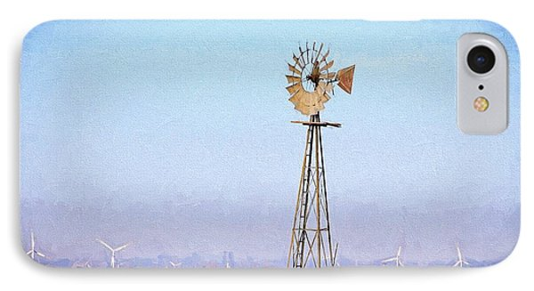 IPhone 7 Case featuring the digital art Kansas Windmills by JC Findley