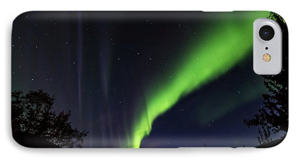 Kantishna Northern Lights In Denali National Park IPhone Case by Brenda Jacobs