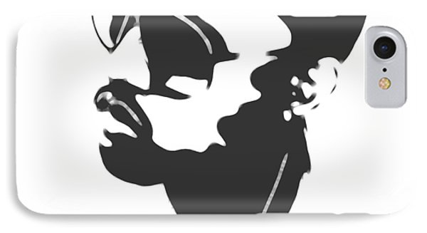 Kanye West Silhouette IPhone 7 Case by Dan Sproul