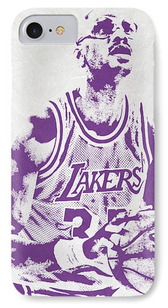 Kareem Abdul Jabbar Los Angeles Lakers Pixel Art IPhone Case