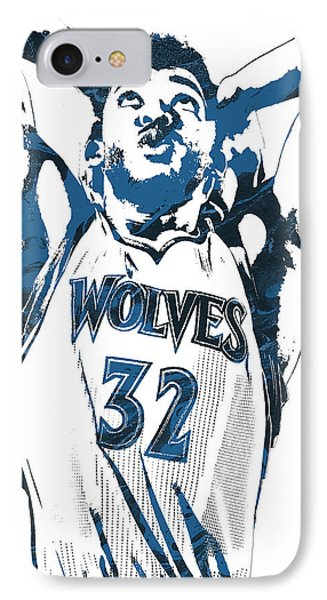 Karl Anthony Towns Minnesota Timberwolves Pixel Art IPhone Case