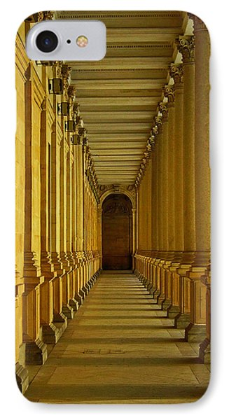 Karlovy Vary Colonnade Phone Case by Juergen Weiss