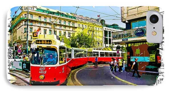 IPhone Case featuring the photograph Kartner Strasse - Vienna by Tom Cameron