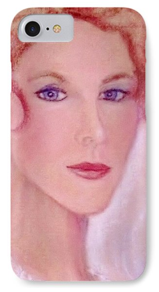 IPhone Case featuring the drawing Kate by Denise Fulmer