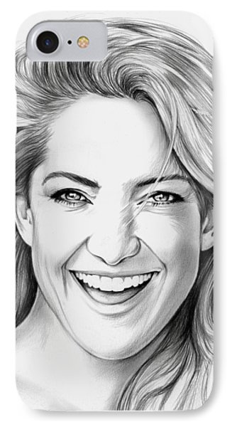 Kate Hudson IPhone Case by Greg Joens