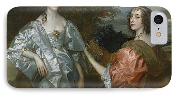 Katherine, Countess Of Chesterfield, And Lucy, Countess Of Huntingdon IPhone Case by Anthony Van Dyck
